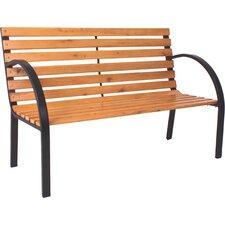 Parkbank Bellevue aus Stahl / Holz