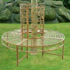 8-Sitzer Baumbank Romantic aus Metall