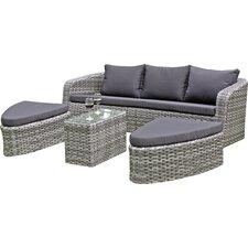 4-tlg. Sofa-Set Catania mit Kissen