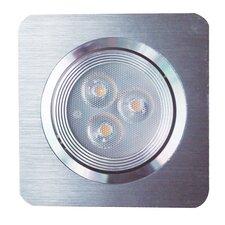 Eco Light LED Einbauleuchte Set 3-flammig 8033D