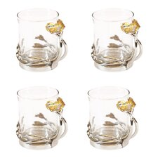 Poppy Glass Tea Cup (Set of 4)
