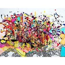 Leinwandbild Explosion, 2009, Grafikdruck von Myrtia Hellner