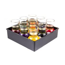 9 Piece Pool Game Shot Glass Set