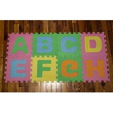 26 Piece Soft Interlocking Foam Alphabet Floor Mat Set