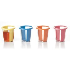 Easy Twist Re-Usable Shot Glass Plastic Cup (Set of 12)
