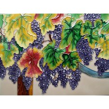 Horizontal Grape Purple Tile Wall Decor