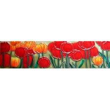 Horizontal Tulips Tile Wall Decor
