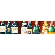 Horizontal Wine Bottle Tile Wall Decor