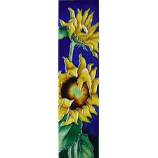 2 Sunflower with Blue Background Tile Wall Decor