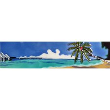 Horizontal Palm and Beach Tile Wall Decor