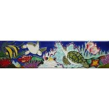 Horizontal Sea Turtles Tile Wall Decor