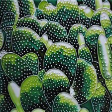 Green Cactus Tile Wall Decor