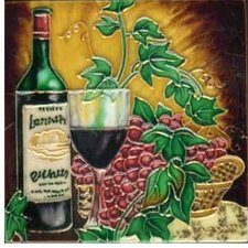 Dark Wine 4 Tile Wall Decor