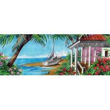 Horizontal Beach House Tile Wall Decor