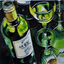 Green Wine Tile Wall Decor