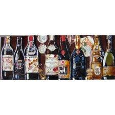 Horizontal Wine Bottles Tile Wall Decor