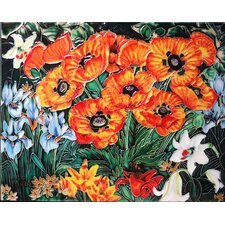 Horizontal Poppies Tile Wall Decor