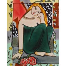 Girl in A Green Dress Tile Wall Decor