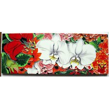Horizontal Orchid Tile Wall Decor