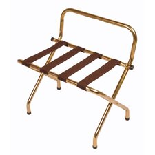 Metal High Back Luggage Rack with Strap