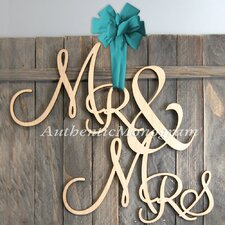 Mr and Mrs Painted Wooden Monogram Wall Decor
