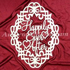 Happily Ever After Filigree Frame Wooden Monogram Wall Decor