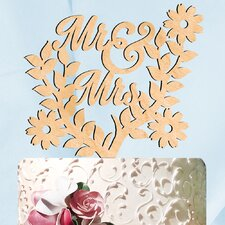 Mr. and Mrs. Spring Decorative Cake Topper