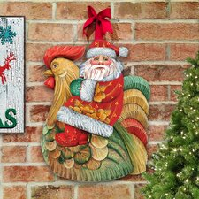 Gallery Santa on Rooster Wall Décor