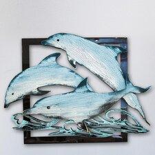 Gallery Dolphin Pod Vintage Wooden Coastal Wall Décor