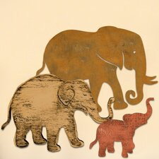 Gallery Elephant Family Wooden Wall Décor