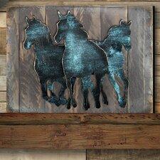 Gallery Wild Stallion on Wooden Block Wall Décor