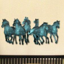 Gallery Wild Stallions Wooden Wall Décor