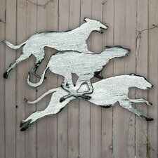 Gallery Track Dogs, Vintage Wooden Wall Décor