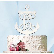 Anchor and Wheel Painted Cake Topper
