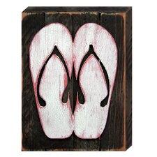 Sandals Wooden Coastal Wall Décor