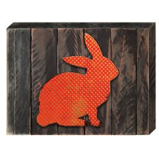 Vintage Rabbit Reclaimed Wooden Board Wall Décor
