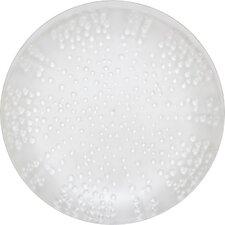 "10"" Melamine Translucent Coral Dinner Plate"