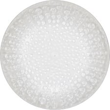 "7"" Melamine Translucent Coral Luncheon Plate"
