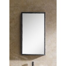 "Glamour 17.75"" x 31.5"" Surface Mount Flat Medicine Cabinet"