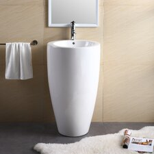 "Pedestal Series 19.69"" Bathroom Sink"