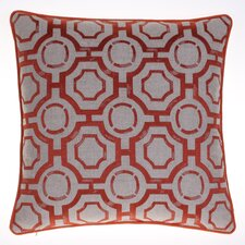 Embroidered Distressed Geometric Throw Pillow