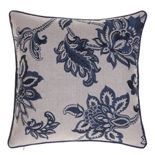 Embroidered French Country Throw Pillow