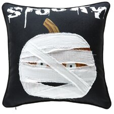 Pumpkin Mummy Throw Pillow