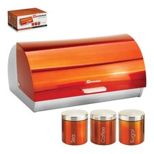 4-Piece Canister Set and Bread Bin