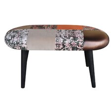 Patchwork Upholstered Hallway Bench