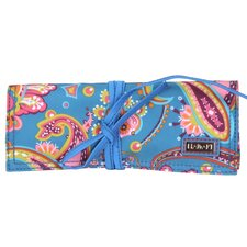 Cassandra Paisley Coated Roll Jewelry Pouch