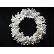 Pre-Lit Battery Operated Artificial Christmas Wreath