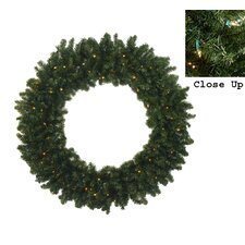 Pre-Lit 7' Commercia Canadian Pine Artificial Christmas Wreath with 600 LED Clear Lights