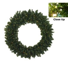 Pre-Lit Battery Operated Canadian Pine Artificial Christmas Wreath