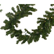Pre-Lit Battery Operated Pine Artificial Christmas Garland
